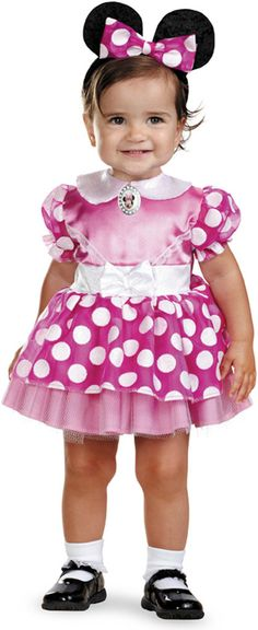 Mickey Mouse Clubhouse - Pink Minnie Mouse Infant Costume Includes dress and headband. Does not include socks or shoes. This is an officially licensed Disney product. Weight (lbs) 0.68 Length (inches)