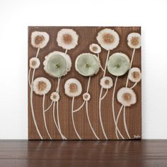 Your place to buy and sell all things handmade Small Paintings, Original Paintings, Earth Tone Decor, Canvas Size, Canvas Art, Walnut Furniture, Brown Home Decor, Dandelions, Green And Brown