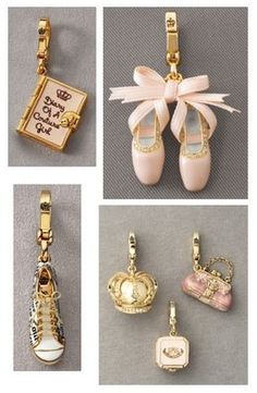 """amazing charms by juicy couture This reps thy r charmed with Dave & I direction of CBP & Domingo and Pico Union think it is golden. Please help 'Fund Us"""" ! Pandora Bracelet Charms, Pandora Jewelry, Charm Jewelry, Charm Bracelets, Diy Collier, Juicy Couture Charms, Cute Charms, Girly Things, Jewelry Accessories"""