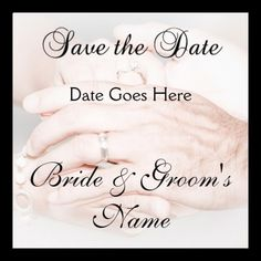 Holding Hands Save the Date Invite