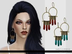 Shield Earrings  Found in TSR Category 'Sims 4 Female Earrings'