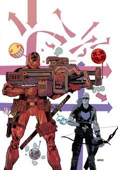 Deadpool vs Hawkeye by JHarren.deviantart.com on @deviantART