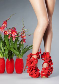 Orchid shoes by Jan Jansen