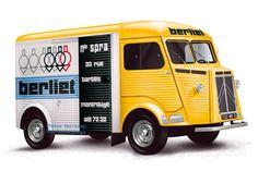 CITROËN HY immatriculé en 1962 pour le compte de la Société Parisienne de Réparation Automobile, dotée de l'enseigne Berliet, à Montrouge [Illustrator-2015]