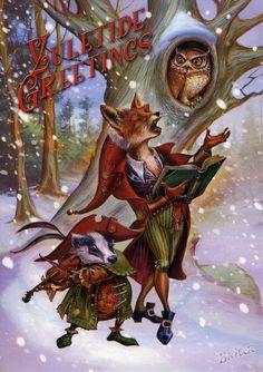 Wildwood Carols ~ Briar. Yule card.