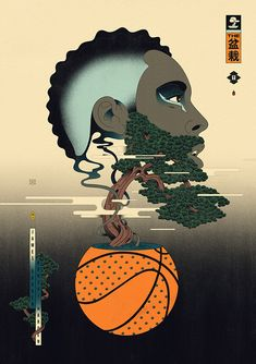 Andrew Archer is the creative force behind Edo Ball, envisioning NBA basketball players in the style of ancient Japanese woodblock prints called, ukiyo-e. Andrew Archer, Basketball Art, Basketball Players, Nba Wallpapers, Black Mamba, Sports Art, Mood, Asian Art, Japanese Art