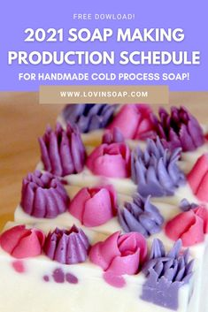 We love helping soap makers with free downloads for handmade soap recipes, essential oil blends and soap tips & tricks! The 2021 Soap Making Production Schedule for handcrafted sellers is given as a zip file with both a PDF download and an Excel spreadsheet, so you can update and customize as you wish. Know when to have your soap supplies ready, start production, and have your beautiful handmade soap ready for business by major U.S. Holidays and seasons Diy Bath Soaps, Summer Color Palettes, Handmade Soap Recipes, Soap Supplies, Christmas Soap, Soap Maker, Cold Process Soap, Free Downloads, Home Made Soap
