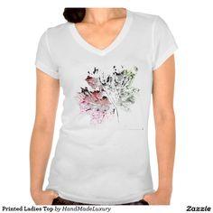 Printed Ladies Top Tee Shirts