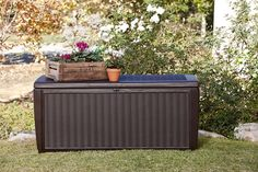 Keter Sumatra 135 gallon Outdoor Storage Rattan Deck Box *** (paid link) You can get more details by clicking on the image.