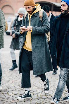 Street style  les plus beaux looks homme vus à la Fashion Week  automne,hiver 2017,2018