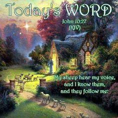 John 10:27 KJV