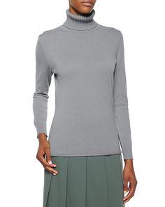 Long-Sleeve Cashmere Turtleneck