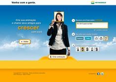 """A partir do conceito """"Venha com a Gente"""" da Petrobras, foi criado uma ação para públicos segmentados da Petrobras. Com comunicação dirigida, um e-mail convidava a pessoa a criar uma caminhada em direção aos próximos anos, escrevendo uma frase sobre o que ela deseja fazer e convidando seus amigos a vir com ela."""