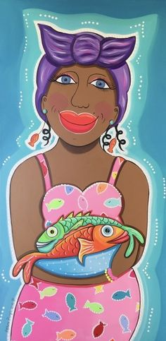 Damanan Dushi met vissen