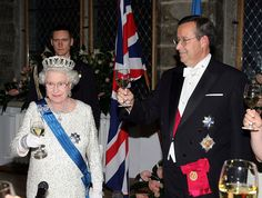 Oct 2006 Visit to The Baltic States Banquet Tallinn, Estonia. Long Pictures, House Of Windsor, Royal Tiaras, British Royal Families, Cuthbert, Happy Moments, Queen Elizabeth Ii, British Royals, Edinburgh