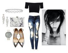 """""""Metalic"""" by lovettaa on Polyvore featuring American Apparel, Jimmy Choo, Balenciaga, Cezanne and Epoque"""