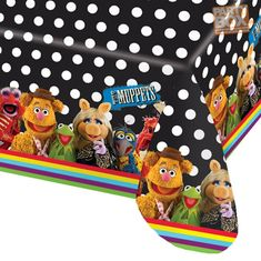 Muppets Foil Tablecloth - Party costumes, party supplies, birthday party decorations, Halloween costumes