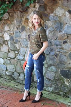 Cathy Anderson of Poor Little It Girl dresses up camo in Alternative Printed Short-Sleeve Crew. Snag yours now: $11.41 Alternative AA1935A Fashion Now Mens Printed Short-Sleeve Crew T-Shirt