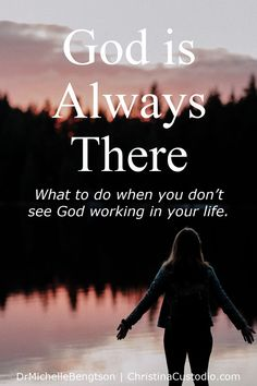 God is always there. But, what do you do when you don't see God or feel His presence? #God #Bibleverse #scripture #hope #faith Depression Recovery, Overcoming Depression, Overcoming Anxiety, Still Waiting For You, Still Love You, Bible Verses About Fear, Be Not Dismayed, Righteousness Of God, Depression Remedies