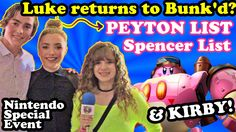 Things you didn't know: #PeytonList ToTaLLy can whip #SpencerList on Super Smash Bros. with #Kirby! Check out my interview with super-pretty Peyton and Spencer at the #Nintendo Kirby #PlanetRobobot launch party!