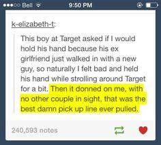 Smart kid. Lol