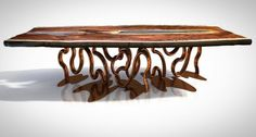 Design by Davide Del Gallo. Product of T.Riverwood company Www.riverwood.eu Office@riverwood.eu Worldwide shipping Natural process of making a perfect raw material starts in rivers. Cut down or fallen tree trunksimmersed deep into cold water without oxygen and light slowly acquire unique strength and aesthetic values. The combination of water and minerals time and characteristic biophysical conditions creates a unique drawing and colour of wood and drastically change its structure. Wood from…