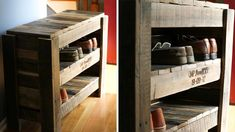Recycle wooden pallets in 65 creative ideas - Decoration World Palette Furniture, Bamboo Furniture, Palette Shoe Rack, Dressing En Palette, Palette Projects, Cheap Furniture Stores, Modern Bedroom Design, Furniture For Small Spaces, Wooden Pallets