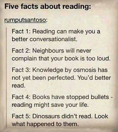 Also reading helps reduce stress