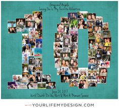 10 Year Anniversary, Anniversary Photos, You Are My Favorite, My Favorite Things, Heart Collage, Photography Collage, Milestone Birthdays, Collages, My Design