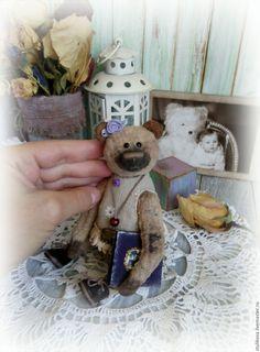 Купить Винтажная мишка тедди Ирочка ( Иришка) - бежевый, винтажный мишка Тедди