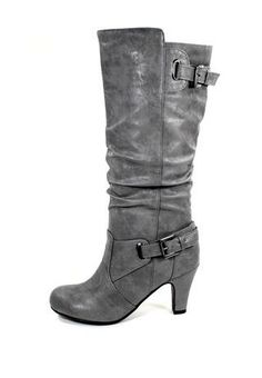 DOUBLE BUCKLE TALL BOOTS