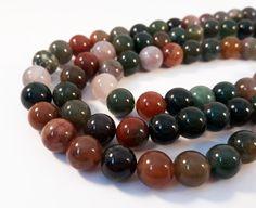 25 Perles Agates Indienne 8 mm - Pierre de Gemme - Pierre semi precieuse - A091 : Perles pierres Fines, Minérales par diy-axellecreations