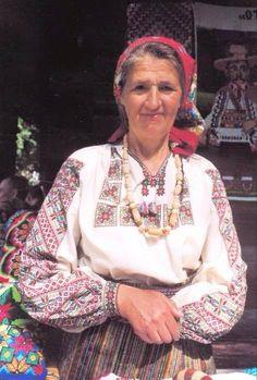 A woman in an embroidered shirt. Bukovina. s.Yablunitsya Putyla district of Chernivtsi region.
