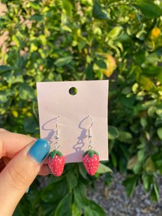 Diy Clay Earrings, Funky Earrings, Funky Jewelry, Ear Jewelry, Cute Jewelry, Handmade Jewelry, Jewelry Making, Dangle Earrings, Jewellery