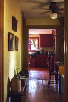 colonial interior kitchen and hallway