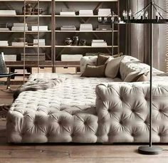 Grey cushion look oversized couch