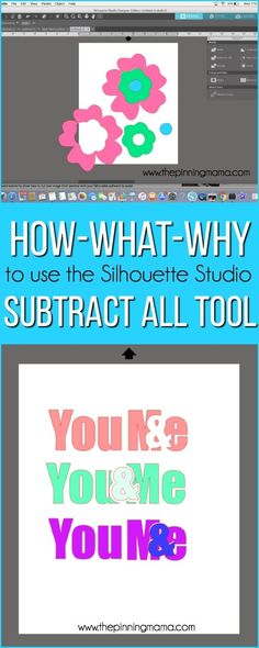 When to Use Subtract All in Silhouette Studio {Silhouette Boot Camp: Lesson – The Pinning Mama Silhouette Cutter, Silhouette Vinyl, Silhouette Portrait, Silhouette Machine, Silhouette America, Silhouette Files, Silhouette School Blog, Silhouette Design Studio, Silhouette Cameo Tutorials