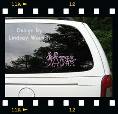Custom Hair Stylist Glitter Monogram Car Decal Car Decal - Make your own decals