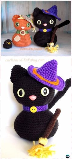Crochet Amigurumi Halloween Black Cat Free Pattern - Crochet Amigurumi Cat Free Patterns