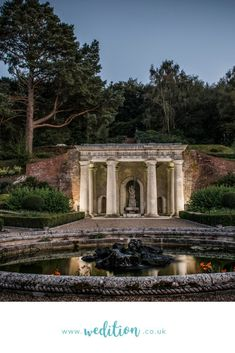 Wedition loves the Italian Garden at Wotton House, why not include the history of this magnificent century Surrey Wedding Venue inside your very own personalised wedding magazine? What an incredible keepsake for your guests