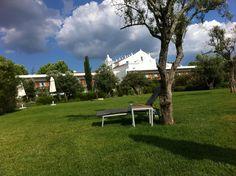 The view from the garden to the Convento do Espinheiro Hotel in Évora. May 2011