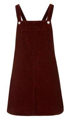 Burgundy corduroy overall Dress