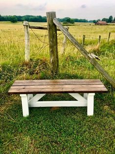 Perfect for your front porch, entryway, mudroom or backyard. Porch Banister, Porch Wood, Diy Porch, Yard Benches, Patio Bench, Front Porch Bench Ideas, Porch Ideas, Rustic Wood Bench, Farmhouse Bench