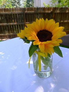 sunflower center pieces