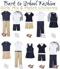 Find stylish girls' uniform items at target, french toast brand girl's school uniforms at target, cherokee brand girl's school uniform wardrobe items, Toddler School Uniforms, Back To School Uniform, School Uniform Fashion, Kids Uniforms, Back To School Fashion, School Outfits, Outfits For Teens, Private School Uniforms, School Uniform Pants