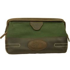 Hunter Green Canvas With Leather Trim Travel Toiletry Kit by KDSTEPHENS. $39.99. KDTC103nbsp