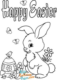 happy easter bunny coloring pages - Kids Coloring Pages Easter Bunny Colouring, Bunny Coloring Pages, Coloring Pages To Print, Coloring For Kids, Coloring Pages For Kids, Happy Easter Bunny, Colorful Pictures, Snoopy, Printable
