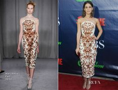 Lizzy Caplan en Marchesa - CBS, CW And Showtime Party