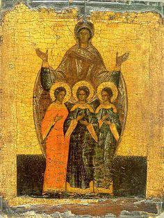 St. Faith, St. Hope, St. Love, and their Mother, St. Sophia.