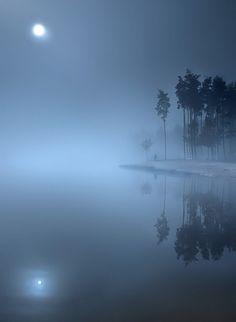 Full Moon Foggy Night